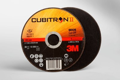 3M™ Cubitron™ II Cut-Off Wheel T1 66526, 5 in x .045 in x 7/8 in, 25 per inner, 50 per case
