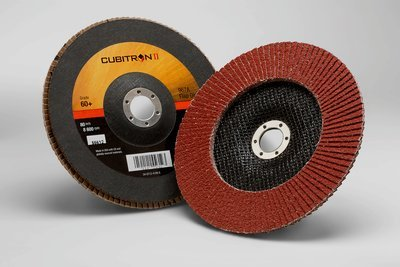 3M™ Cubitron™ II Flap Disc 967A, T27 7 in x 7/8 in 60+ Y-weight, 5 per case