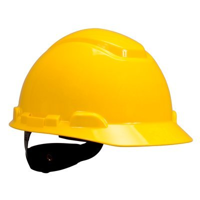 3M™ Hard Hat H-702R-UV, with UVicator and 4-Point Ratchet Suspension, Yellow