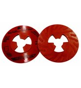 3M™ Disc Pad Face Plate Ribbed 81732, 5 in Extra Hard Red, 10 per case