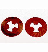 3M™ Disc Pad Face Plate Ribbed 28443, 4-1/2 in Extra Hard Red, 10 per case