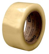 Scotch® Recycled Corrugate Tape 3073 Clear, 48 mm x 100 m, 36 rolls per case Bulk